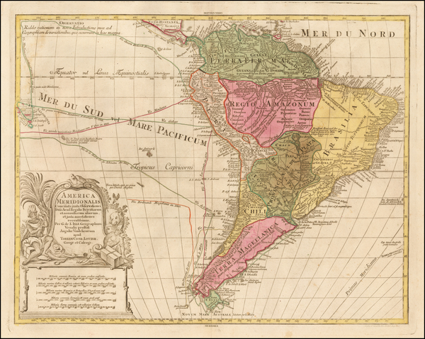 52-South America Map By Gustav Conrad Lotter