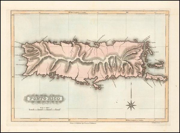 72-Caribbean and Puerto Rico Map By Fielding Lucas Jr.