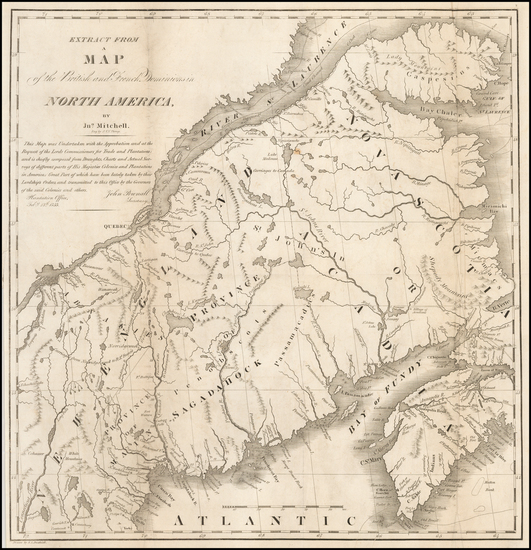 82-New England, Canada and Eastern Canada Map By S. L. Dashiell