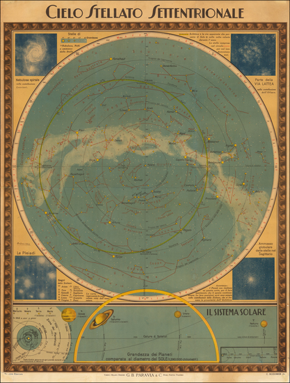 52-Celestial Maps Map By G.B. Paravia