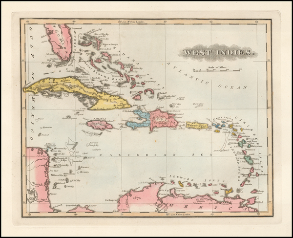 78-Caribbean Map By Fielding Lucas Jr.