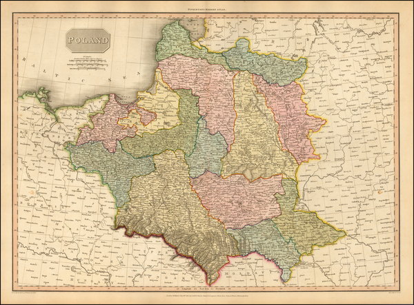 Poland and Baltic Countries Map By John Pinkerton