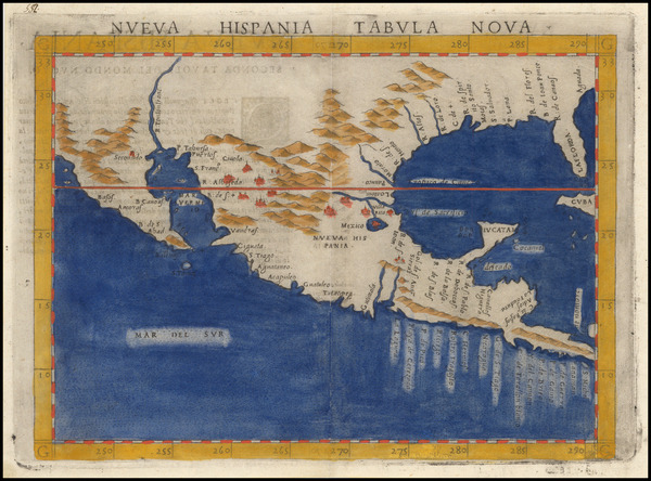 8-South, Southeast, Texas, Southwest, Rocky Mountains, Mexico and Baja California Map By Girolamo