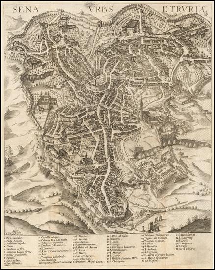 40-Italy Map By Johann Heinrich von Pflaumern