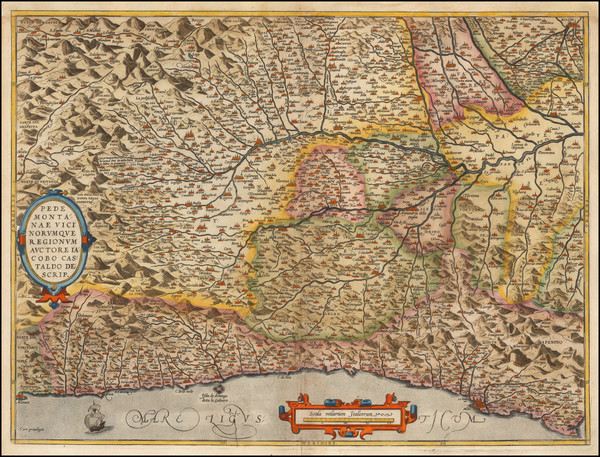 24-Northern Italy Map By Abraham Ortelius
