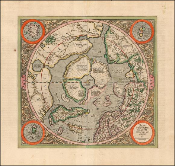 21-Northern Hemisphere and Polar Maps Map By Gerard Mercator