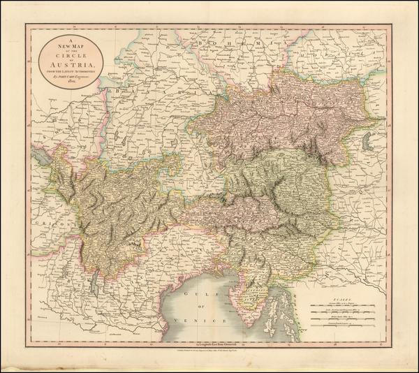 69-Austria and Balkans Map By John Cary