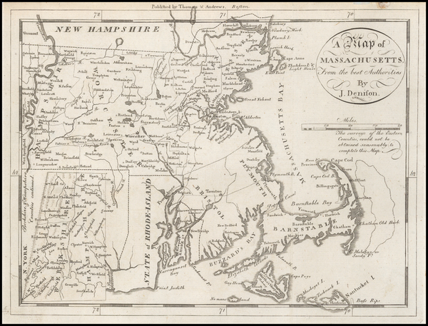 55-New England Map By Jedidiah Morse