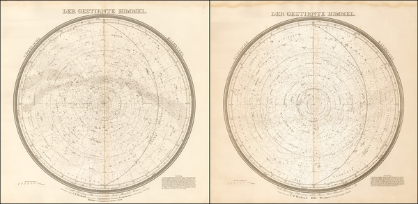 74-Celestial Maps Map By Carl Ferdinand Weiland