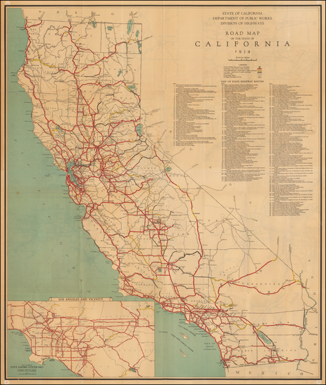 California Map By State of California Division of Highways