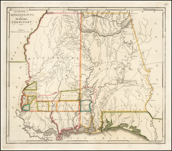 70-Alabama and Mississippi Map By