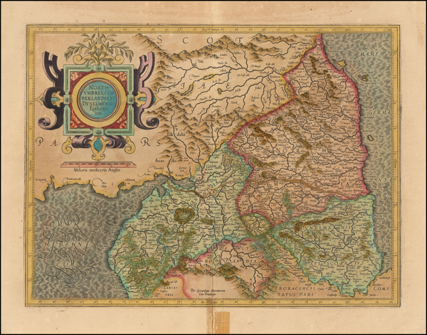 59-England and British Counties Map By  Gerard Mercator