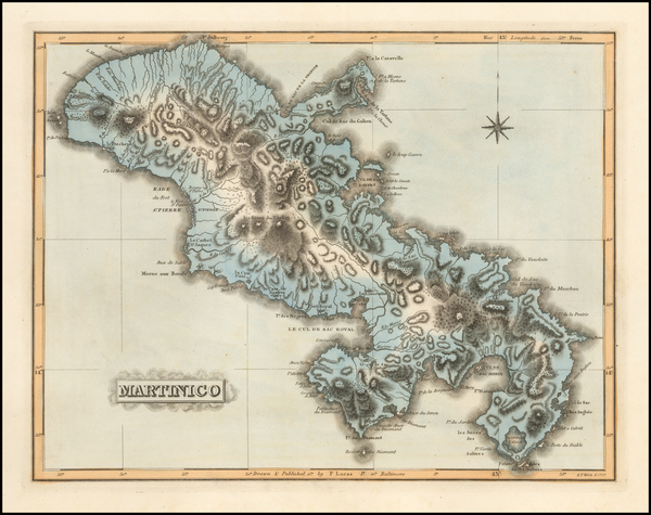 70-Caribbean Map By Fielding Lucas Jr.
