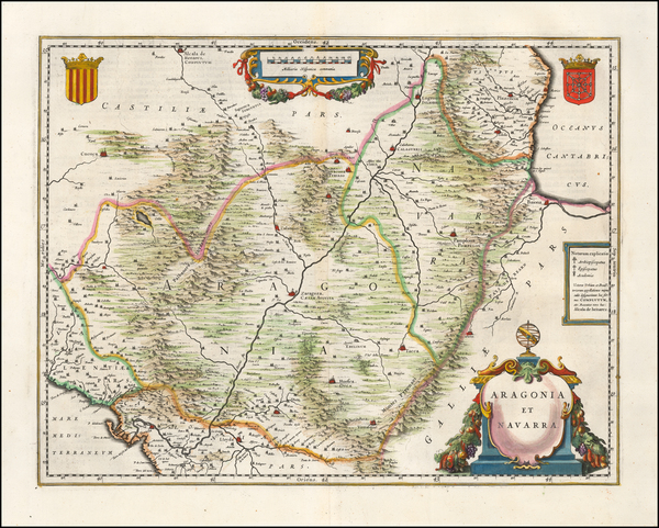 63-Spain Map By Willem Janszoon Blaeu