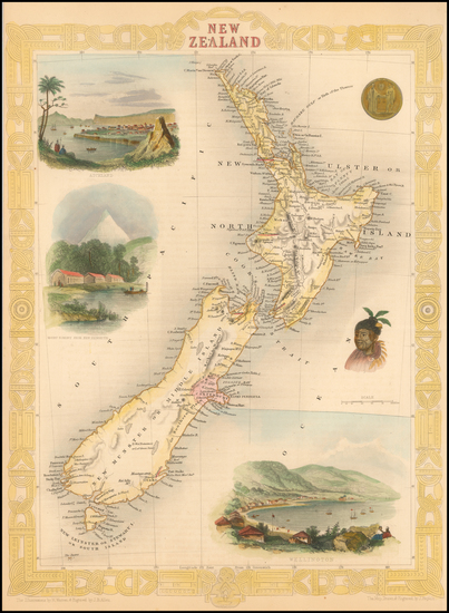81-New Zealand Map By John Tallis