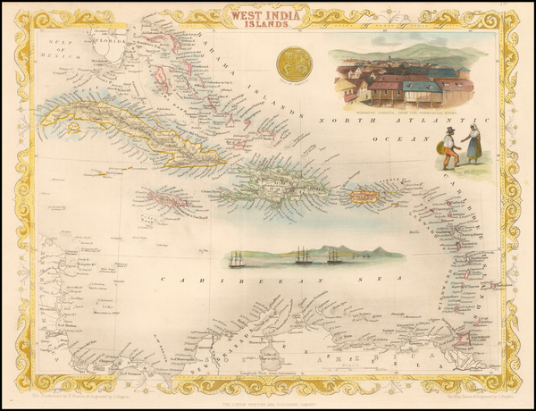 74-Caribbean Map By John Tallis