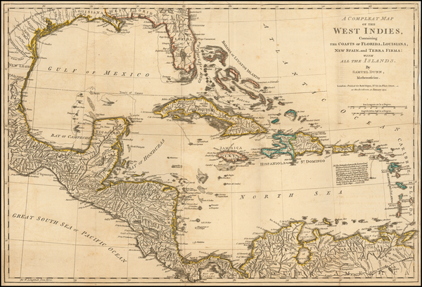 87-Caribbean Map By Samuel Dunn