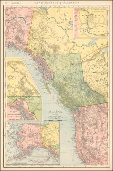 1-Alaska and Canada Map By Rand McNally & Company