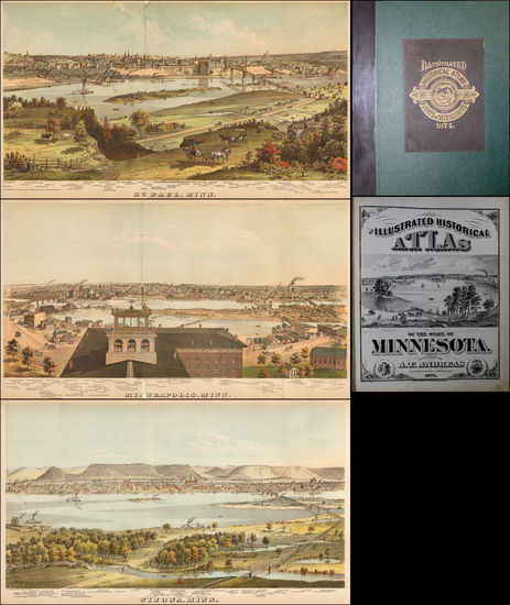 26-Midwest, Minnesota and Atlases Map By A. T. Andreas