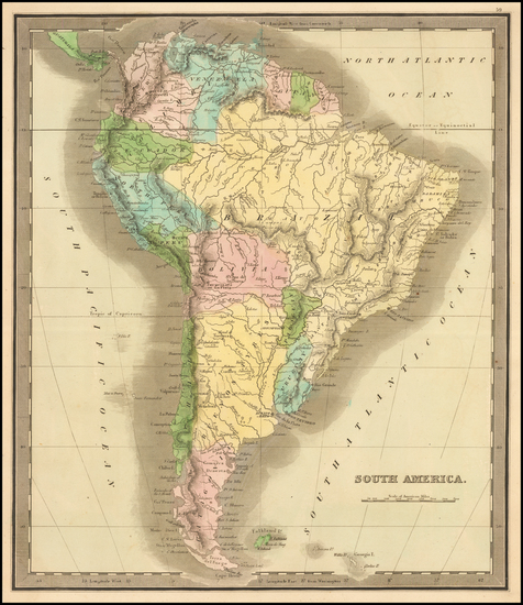 21-South America Map By John Greenleaf
