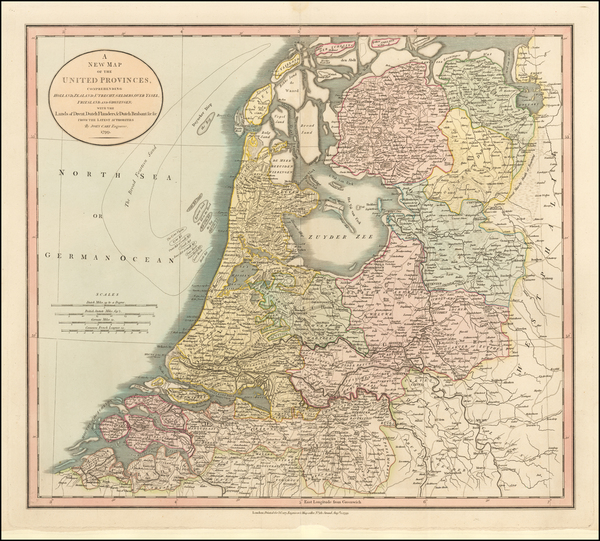 Netherlands Map By John Cary