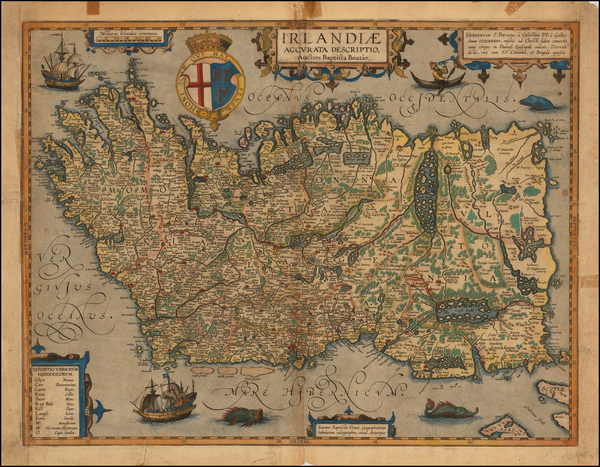 72-British Isles, Ireland and Balearic Islands Map By Abraham Ortelius / Johannes Baptista Vrients