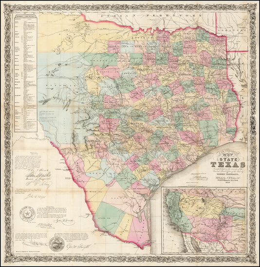 41-Texas Map By Jacob De Cordova