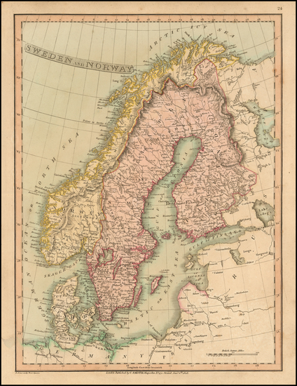 61-Scandinavia Map By Charles Smith