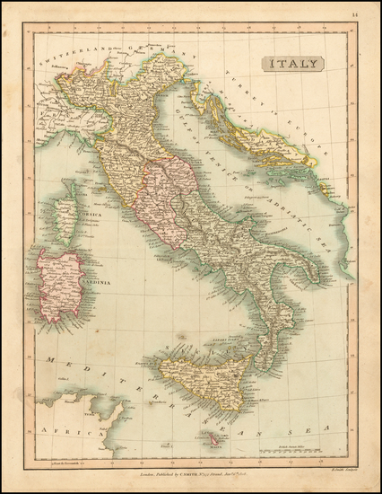 82-Italy Map By Charles Smith