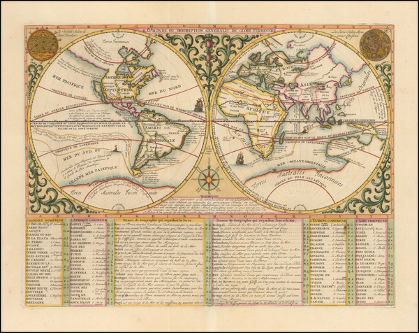 40-World and California as an Island Map By Henri Chatelain