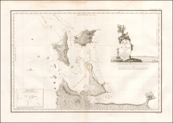 87-Australia Map By Louis Claude Desaulses de Freycinet