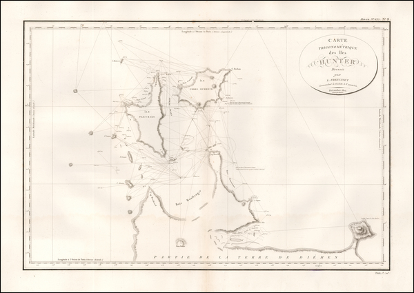 84-Australia Map By Louis Claude Desaulses de Freycinet