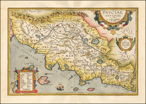 81-Northern Italy Map By Abraham Ortelius
