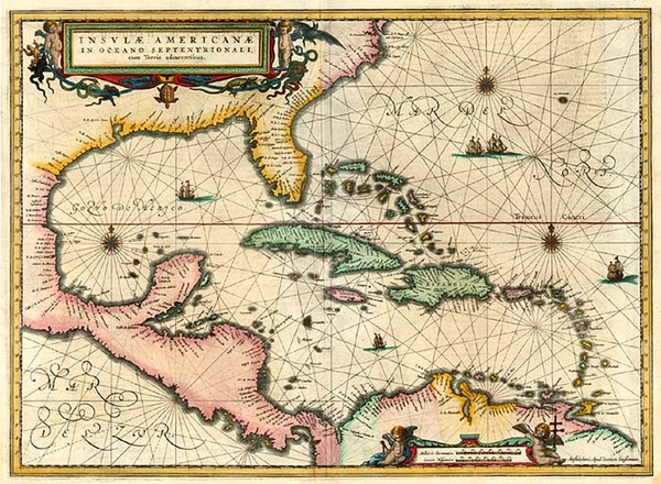 65-South, Southeast, Caribbean and Central America Map By Jan Jansson