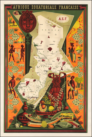 68-Africa, Africa, East Africa and West Africa Map By Alain Cornic