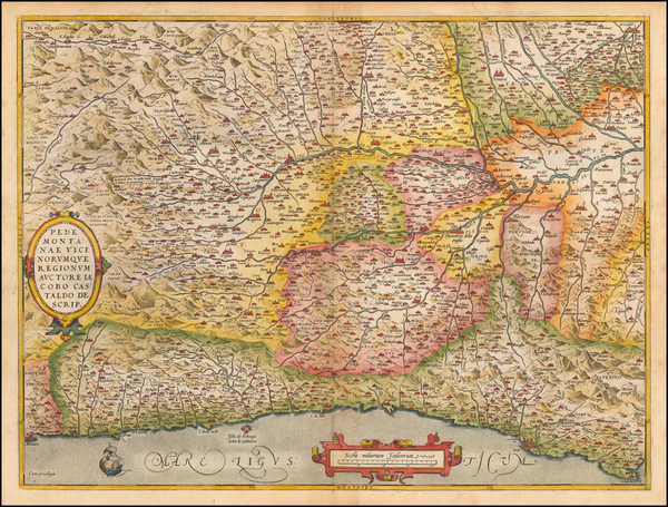 8-Northern Italy Map By Abraham Ortelius