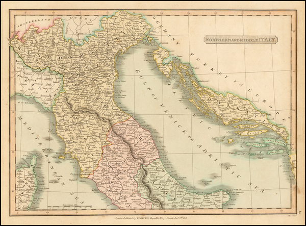 0-Italy Map By Charles Smith