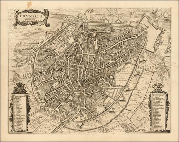 61-Belgium Map By Gaspar Baillieul