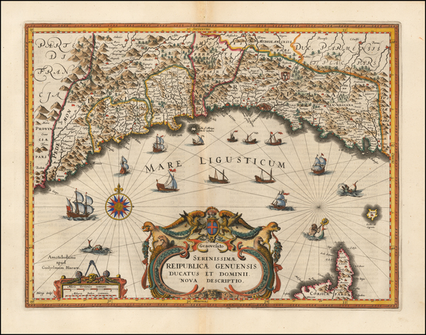 57-Northern Italy Map By Willem Janszoon Blaeu