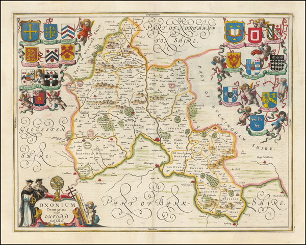 British Counties Map By Jan Jansson