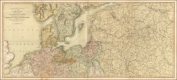 89-Germany, Poland, Russia, Baltic Countries, Sweden and Norway Map By Charles Smith