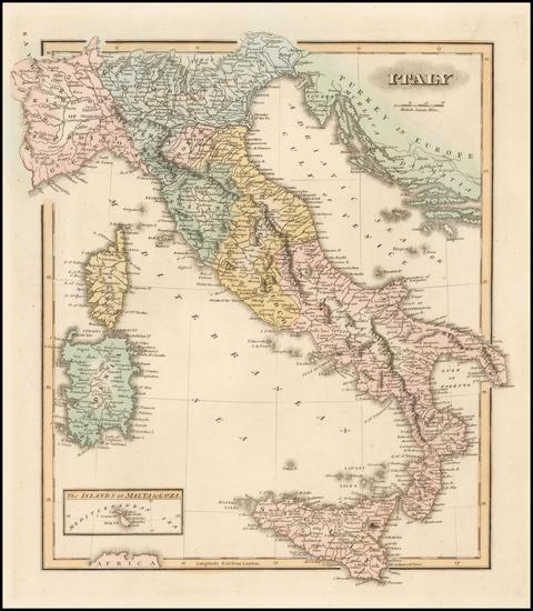 19-Italy Map By Fielding Lucas Jr.
