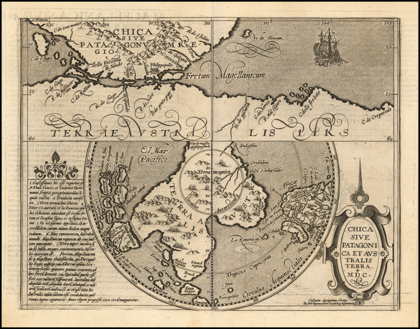 12-Southern Hemisphere, Polar Maps and South America Map By Matthias Quad / Johann Bussemachaer