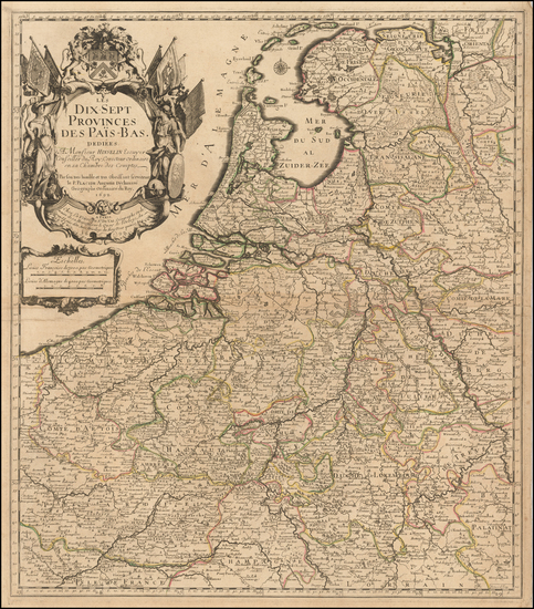 42-Netherlands Map By Pierre Du Val / Le Pere Placide de St. Helene