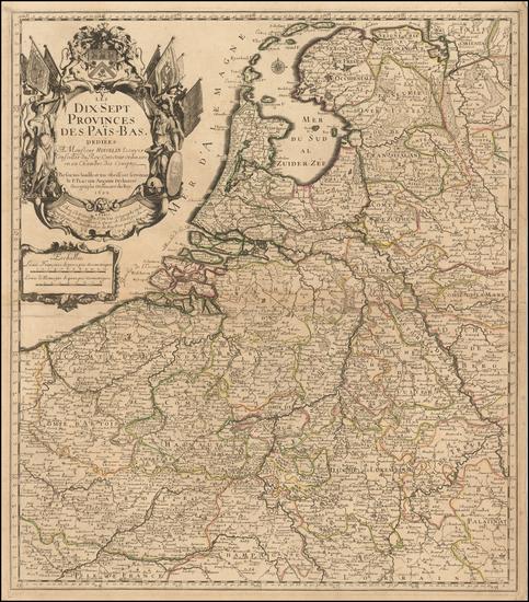 99-Netherlands Map By Pierre Du Val / Le Pere Placide de St. Helene