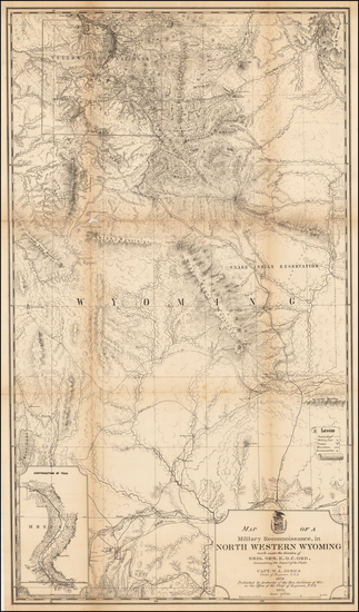 68-Wyoming Map By U.S. Army Corps of Topographical Engineer