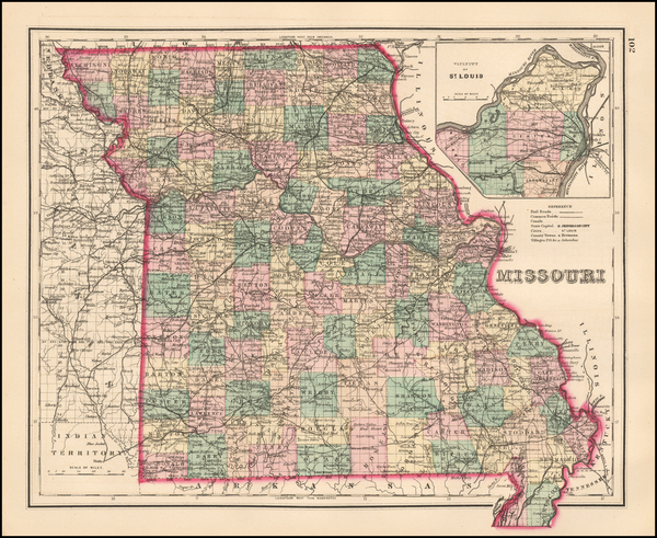 24-Missouri Map By O.W. Gray