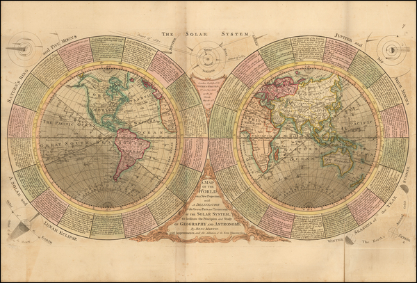 World and Celestial Maps Map By Benjamin Martin