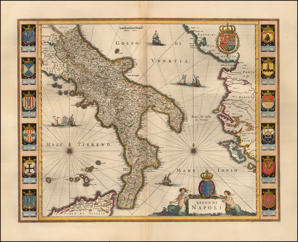 80-Italy Map By Willem Janszoon Blaeu