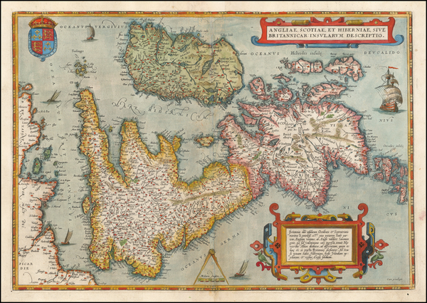 British Isles, England, Scotland, Ireland and Wales Map By Abraham Ortelius